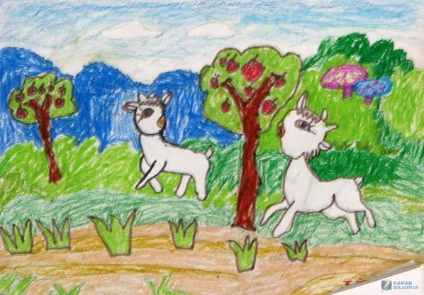 学前班中秋节绘画作品分享展示