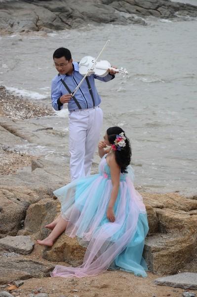 婚纱22c-国庆珠海淇澳岛蹭拍婚纱照-zol相册