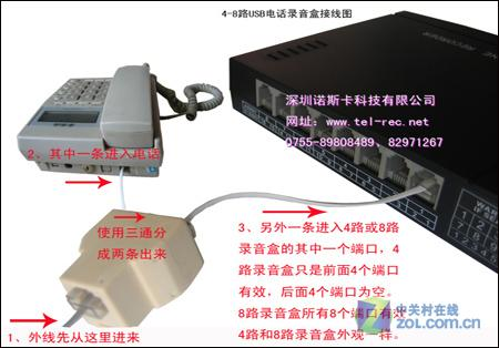 4-8接线图-电话录音产品系列-zol相册
